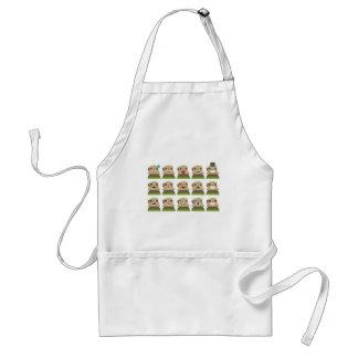 groundhog emojis standard apron