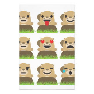 groundhog emojis stationery