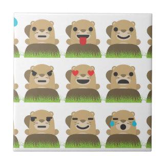 groundhog emojis tile
