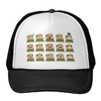 groundhog emojis trucker hat