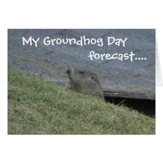 Groundhog Forecast - Groundhog Day Card