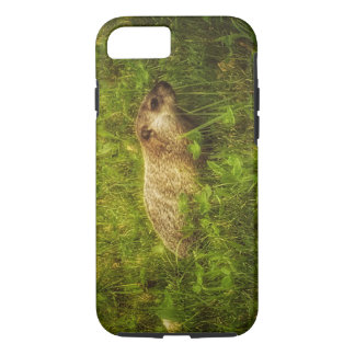 Groundhog in a field phone case
