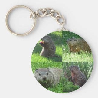 Groundhog Medley Keychain