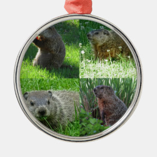 Groundhog Medley Metal Ornament