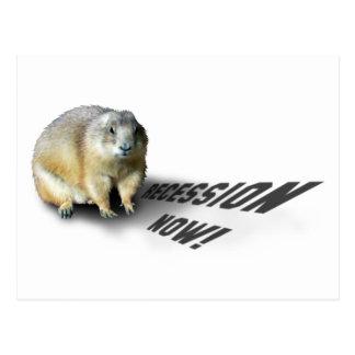 Groundhog Phil Says... Postcard