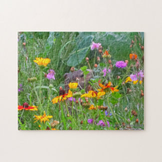 Groundhog Puzzle-Peeking in the Garden Jigsaw Puzzle