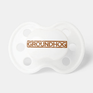 Groundhog Stamp Pacifier