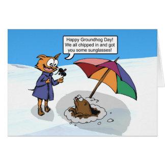 Groundhog Surprise Card