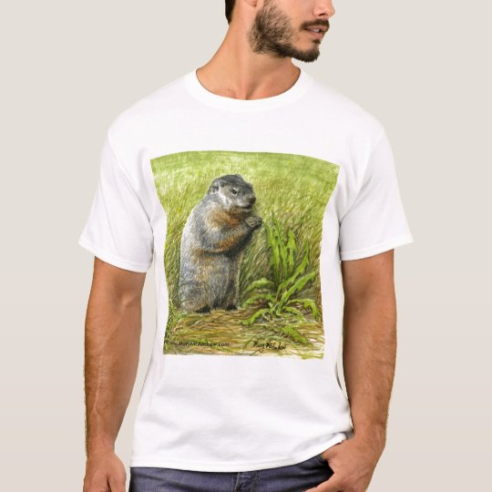 Groundhog T-shirt (close up view)