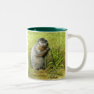 Groundhog Two-Tone Coffee Mug