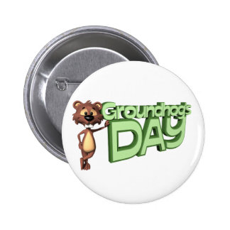 Groundhog's Day 2 Inch Round Button