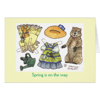 Groundhog's Day paper doll card