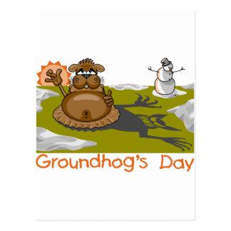 Groundhog's Day Postcard