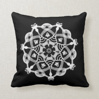 *~* Grounding Black & White Mandala Throw Pillow