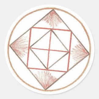 Grounding Mandala Classic Round Sticker