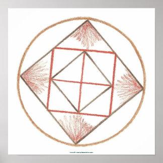Grounding Mandala Poster