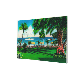 Grounds in front of Hotel St. Catherine Gallery Wrap Canvas