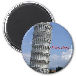 grounds lean twr pisa, Pisa, Italy 2 Inch Round Magnet