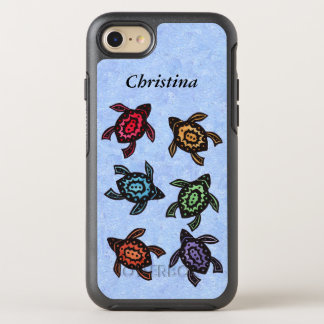 Group Abstract Turtles Brightly Colored shells OtterBox Symmetry iPhone 8/7 Case