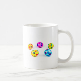 Group colorful painted chicken easter eggs coffee mug