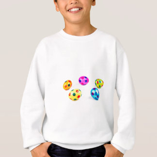 Group colorful painted chicken easter eggs sweatshirt