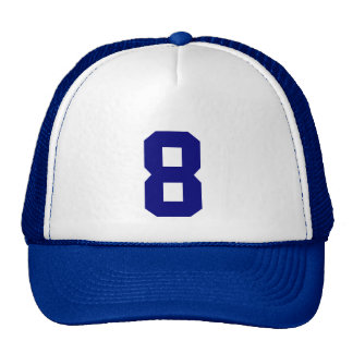 Group custom number eight 8 blue color trucker hat