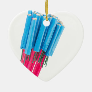 Group fire arrows for New years eve Ceramic Heart Ornament