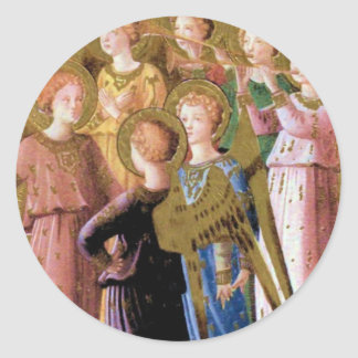 Group of Angels Classic Round Sticker