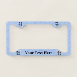 Group of black Turtles Colored shells Light Blue License Plate Frame