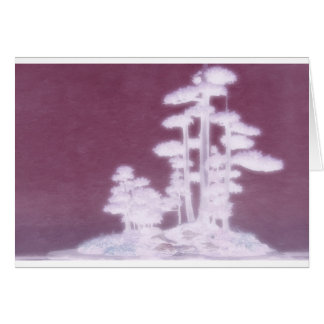 Group of Bonsai Pine Trees Card