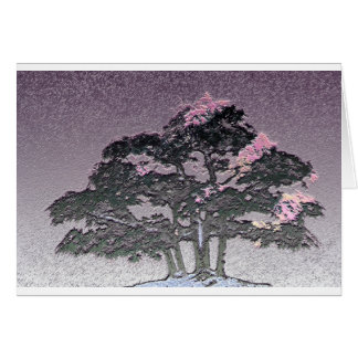 Group of Bonsai Trees in Metallic Purple Card