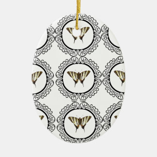 group of butterflies ceramic ornament