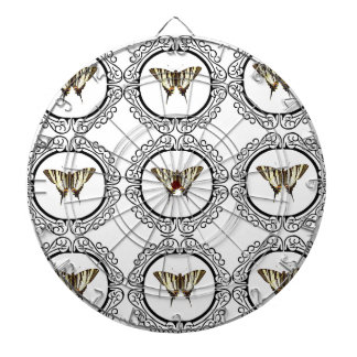 group of butterflies dartboard
