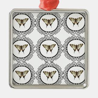 group of butterflies metal ornament