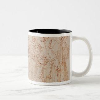 Group of Comic and Tragic Actors Two-Tone Coffee Mug