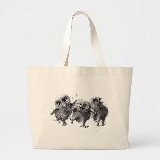Group of crazy owls sac en toile jumbo