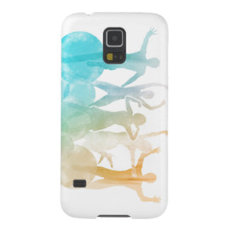Group of Friends Jumping for Joy in Watercolor Cases For Galaxy S5