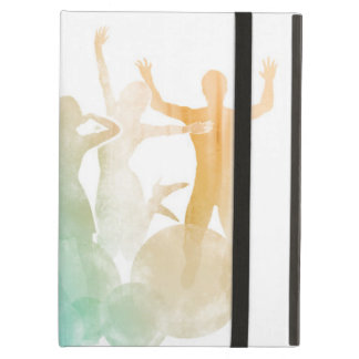 Group of Friends Jumping for Joy in Watercolor iPad Air Case