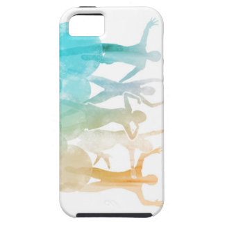 Group of Friends Jumping for Joy in Watercolor iPhone 5 Cover