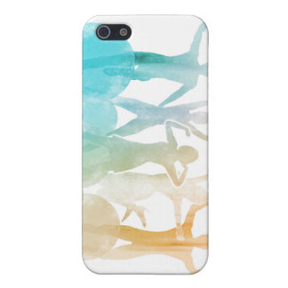 Group of Friends Jumping for Joy in Watercolor iPhone 5 Covers