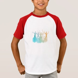 Group of Friends Jumping for Joy in Watercolor T-Shirt