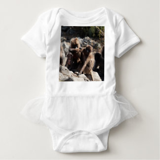 Group of gelada baboons (Theropithecus gelada) Baby Bodysuit