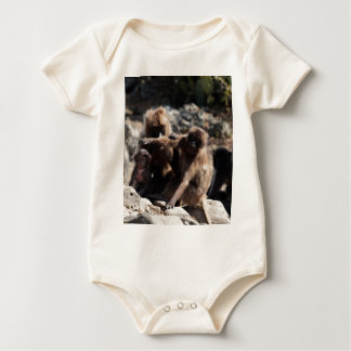 Group of gelada baboons (Theropithecus gelada) Baby Bodysuit