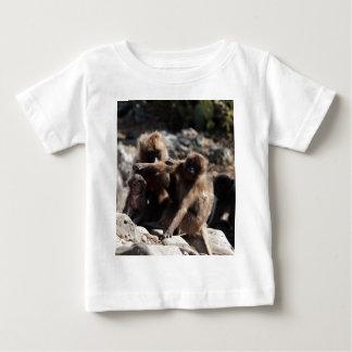 Group of gelada baboons (Theropithecus gelada) Baby T-Shirt