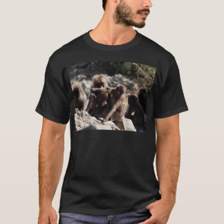 Group of gelada baboons (Theropithecus gelada) T-Shirt