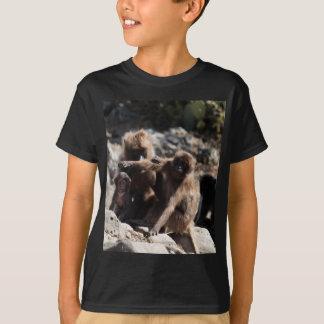 Group of gelada baboons (Theropithecus gelada) T-Shirt