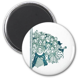 Group of Girls at a Party 2 Inch Round Magnet