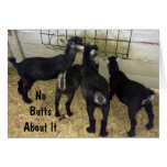 GROUP OF GOATS SEND NO BUTTS ABOUT IT BIRTHDAY FUN GREETING CARD