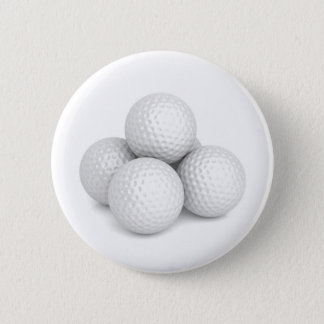Group of golf balls 2 inch round button