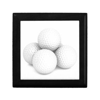 Group of golf balls gift box